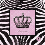 Zebra Crown I Art by Stephanie Marrott
