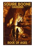 Squire Boone Caverns, Indiana - Rock of Ages Art by  Lantern Press