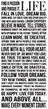 La vie, en anglais Posters par Louise Carey