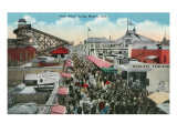 Long Beach, California - View of the Pike Prints by  Lantern Press