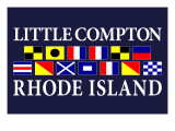 Little Compton, Rhode Island - Nautical Flags Art