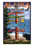 Seward, Alaska - Destination Sign Poster by  Lantern Press