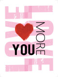 Love You More Print by Louise Carey