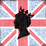 Union Jack Queen Art by Louise Carey