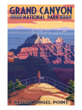 Grand Canyon National Park - Bright Angel Point Prints by  Lantern Press