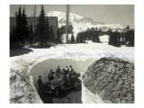 Road Through Snow, Near Paradise Inn, 1921 Giclée-Druck von Asahel Curtis