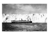Alaska - SS Yukon by Columbia Glacier Prints by  Lantern Press