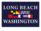 Long Beach, Washington - Nautical Flags Prints by  Lantern Press