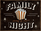Family Night Posters by Jo Moulton