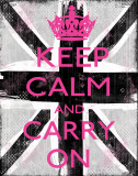 Keep Calm And Carry On Prints by Louise Carey