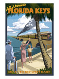 Key West, Florida - Railroad Posters by  Lantern Press