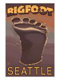 Seattle, Washington Bigfoot Footprint Posters