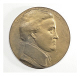 Small Medal Made of Bronze Depicts a Profile of Captain George Vancouver Giclee Print by James Wehn