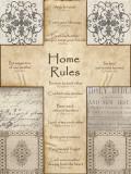 Home Rules Cross Posters av Lisa Wolk