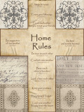 Home Rules Cross Láminas por Lisa Wolk