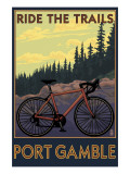 Port Gamble, Washington - Mountain Bike Print