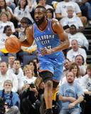 Oklahoma City Thunder v Memphis Grizzlies - Game Three, Memphis, TN - MAY 7: James Harden Photographic Print by Layne Murdoch