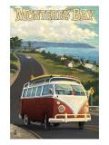 Monterey, California - VW Van Poster