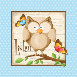 Listen Prints by Kathy Middlebrook