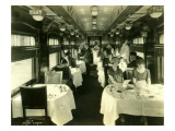 Dining Car with Passengers, 1925 Giclee Print by Asahel Curtis