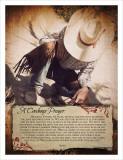 A Cowboy's Prayer Kunstdruck von Shawnda Eva