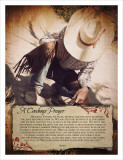 A Cowboy's Prayer Prints by Shawnda Eva