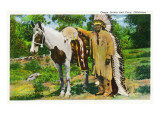 Oklahoma - Osage Indian and Pony Posters by  Lantern Press