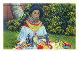 Musa Isle, Florida - Seminole Woman Making a Dress Prints