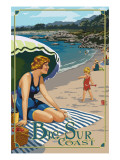 Point Sur Coast Beach Scene, California Prints by  Lantern Press