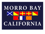 Morro Bay, California - Nautical Flags Prints by  Lantern Press