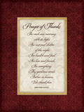 Prayer of Thanks Posters by Stephanie Marrott