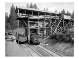 Loading Coal in Tono, WA, 1909 Giclee Print by Asahel Curtis