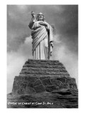 Colorado - Statue of Christ at Camp St. Malo Posters