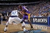Los Angeles Lakers v Dallas Mavericks - Game Four, Dallas, TX - MAY 8: Kobe Bryant and DeShawn Stev Photographic Print by Glenn James