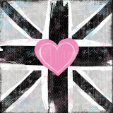 Union Jack Heart I Art by Louise Carey