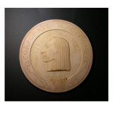 Plaster Cast Medallion Study For the Corporate Seal of Seattle, 1869 Giclee Print by James Wehn