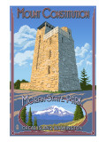 Mount Constitution - Moran State Park - Orcas Island, WA Affiches par  Lantern Press