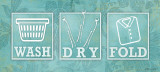 Wash Dry Fold Poster by Stephanie Marrott