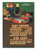 """""""Eat More Corn, Oats and Rye - To Save For the Army and Our Allies,"""" 1918 Reproduction procédé giclée par L.n. Britton"""