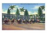 Miami, Florida - Hialeah Park; Horse Race Start Scene Art by  Lantern Press
