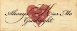 Dame siempre el beso de buenas noches, en inglés Lámina por Stephanie Marrott