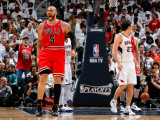 Chicago Bulls v Atlanta Hawks - Game Six, Atlanta, GA - MAY 12: Carlos Boozer Photographic Print by Kevin Cox