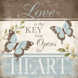 Love Is The Key Prints by Kathy Middlebrook