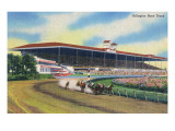 Arlington Heights, Illinois - Horse Race at Arlington Race Track Posters by  Lantern Press