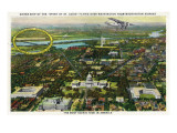 Washington DC - Spirit of St. Louis Sister Plane Flying over District of Columbia Print by  Lantern Press