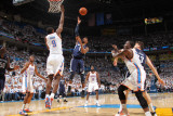 Memphis Grizzlies v Oklahoma City Thunder - Game Five, Oklahoma City, OK - MAY 11: Mike Conley and  Photographic Print by Joe Murphy