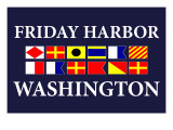 Friday Harbor, Washington - Nautical Flags Prints by  Lantern Press