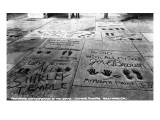 Hollywood, California - Sidewalk of Stars by Chinese Theatre Prints