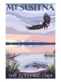 Mt. Susitna, Alaska - The Sleeping Lady Kunstdrucke von  Lantern Press
