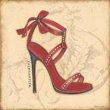 Fashionista Red Heel Affiche par Stephanie Marrott